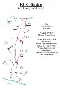 Vía Indirecta al Cilindre, Sant llorenç de Montgai